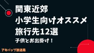 子供とお出かけ!関東近郊小学生向けオススメ旅行先